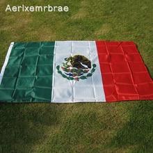 aerlxemrbrae Флаг 3x5 футов Мексиканская нация украшение для дома с изображением флага Открытый полиэстер Мексиканский Флаг