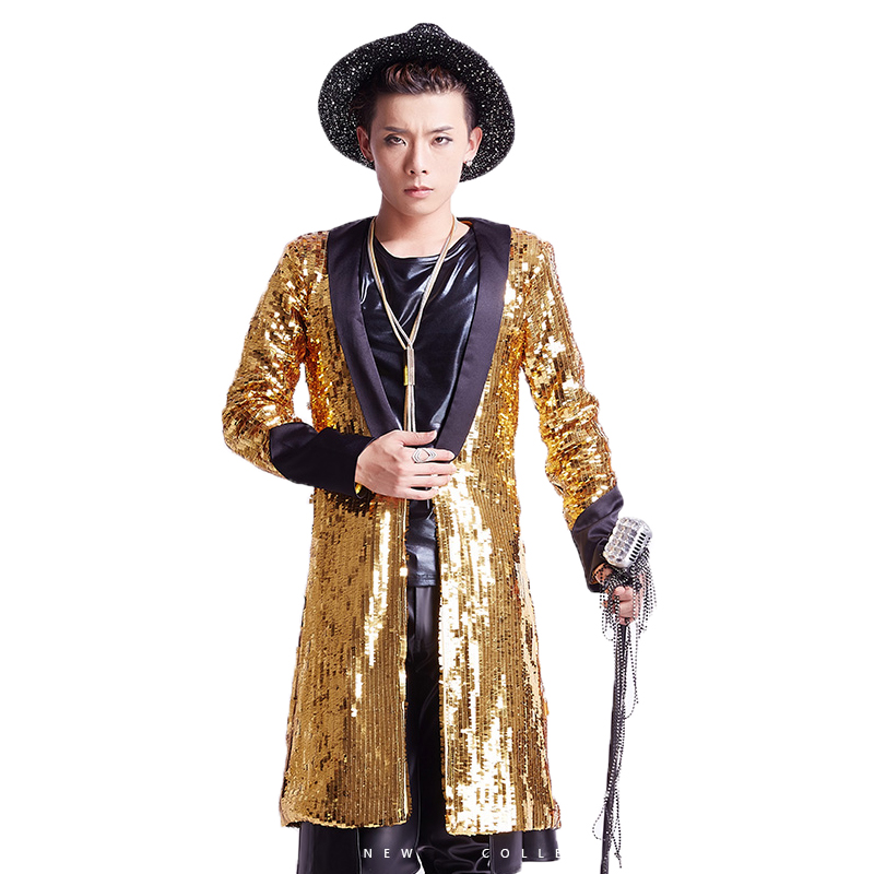 bdfe97a545 Nouvelle -Marque-Hommes-Chanteur-toiles-Spectacle-trench-coats-Discoth-que-Or-Bling-Paillettes- Long-Costume-Vestes.jpg