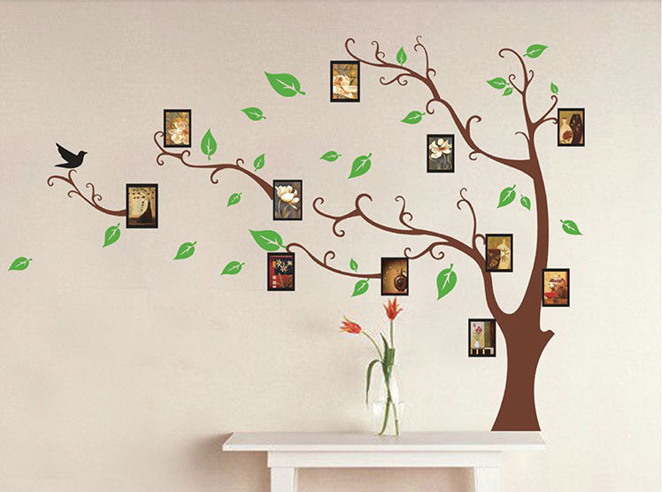 Photo Frame Family Tree Decal Wall Decals Wall Decor: Family Tree Photo Frame Home Decoration Wall Art Vinyl