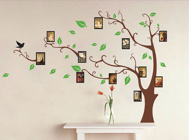 family tree photo frame home decoration wall art vinyl stickers ...