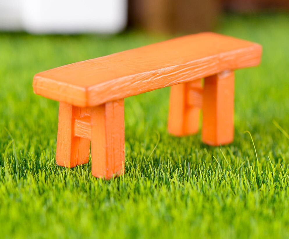 50 шт. смолы деревянная скамья миниатюры пейзаж Интимные аксессуары для дома и сада украшения торта Скрапбукинг Craft DIY