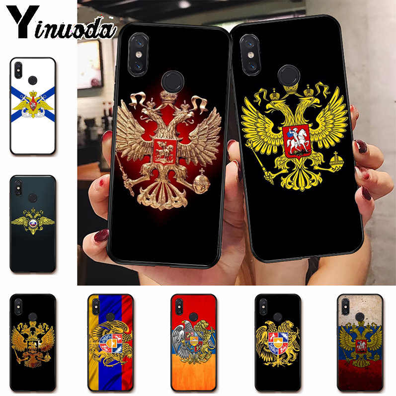 Ynuoda Rusia Bendera Lambang Hot Fashion Menyenangkan Dyna Mi C Ponsel Case untuk Xiaomi Mi 8 Se 6 Note3 redmi 5 5 Plus Note 5 Case Coque