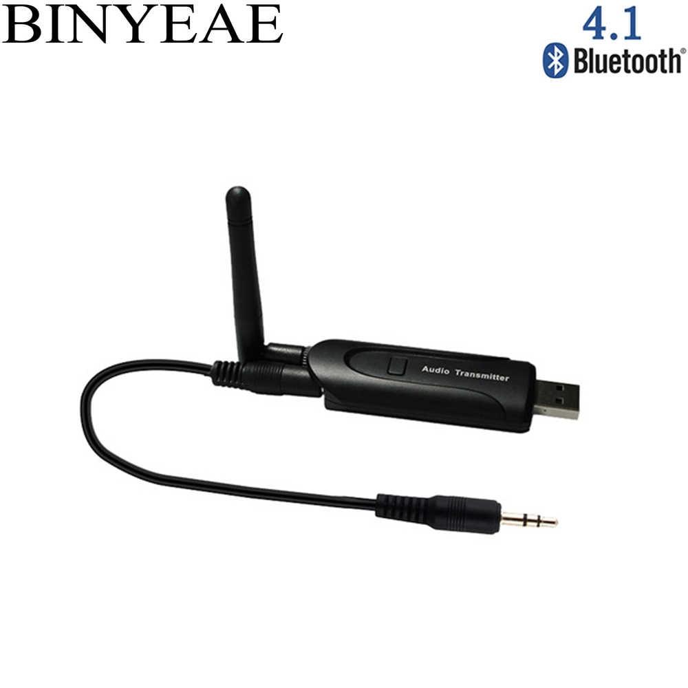 Беспроводной Bluetooth 4 1 передатчик аудио ключ наушники адаптер 3 5 мм разъем для