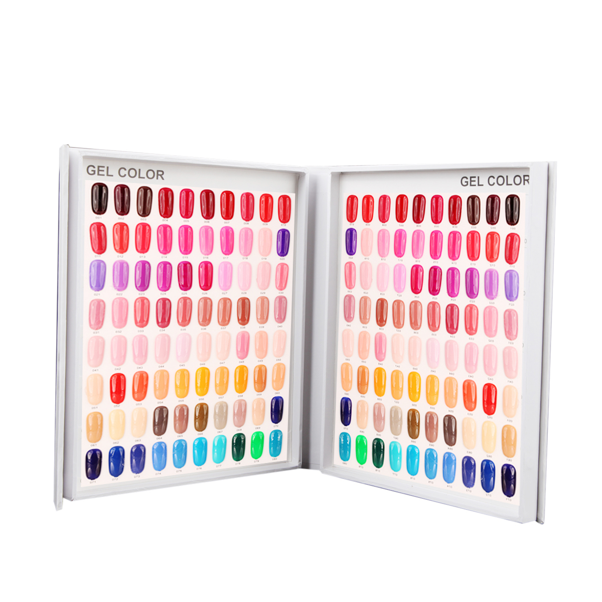 120 kleuren nail art gel polish display boek kaartkaart nagelsalon - Nagel kunst