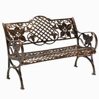ספסל כיסא שאר כיסא פרק חיצוני חצר גן כיסא ארוך רצועת מושב אלומיניום יצוק לשלושה נגד קורוזיה