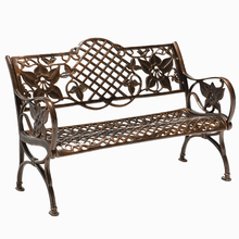 Outdoor Park Chair Rest Chair Bench Courtyard Garden Cast Aluminum Seat Triple Anti-corrosion Strip long Chair все цены
