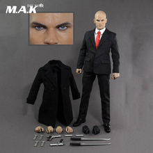 1:6 Scale Hitman 47 12 Male Action Figure full set with the Head Suit  Gun Model and the Body цена