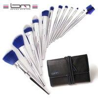 Brush Master 12PCS Professional Makeup Brush Set Ice Blue Powder Foundation Eyebrow Eyeliner Blush Cosmetic Concealer