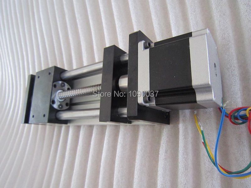 GGP 1204 100mm ball screw Sliding Table effective stroke  Guide Rail XYZ axis Linear motion+1pc nema 23 stepper motor cnc stk 8 8 ballscrew screw slide module effective stroke 150mm guide rail xyz axis linear motion 1pc nema 23 stepper motor