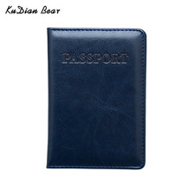 KUDIAN BEAR Leather Passport Cover Minimalist Holder Designer Travel Case Brand Business Card BIH094 PM49