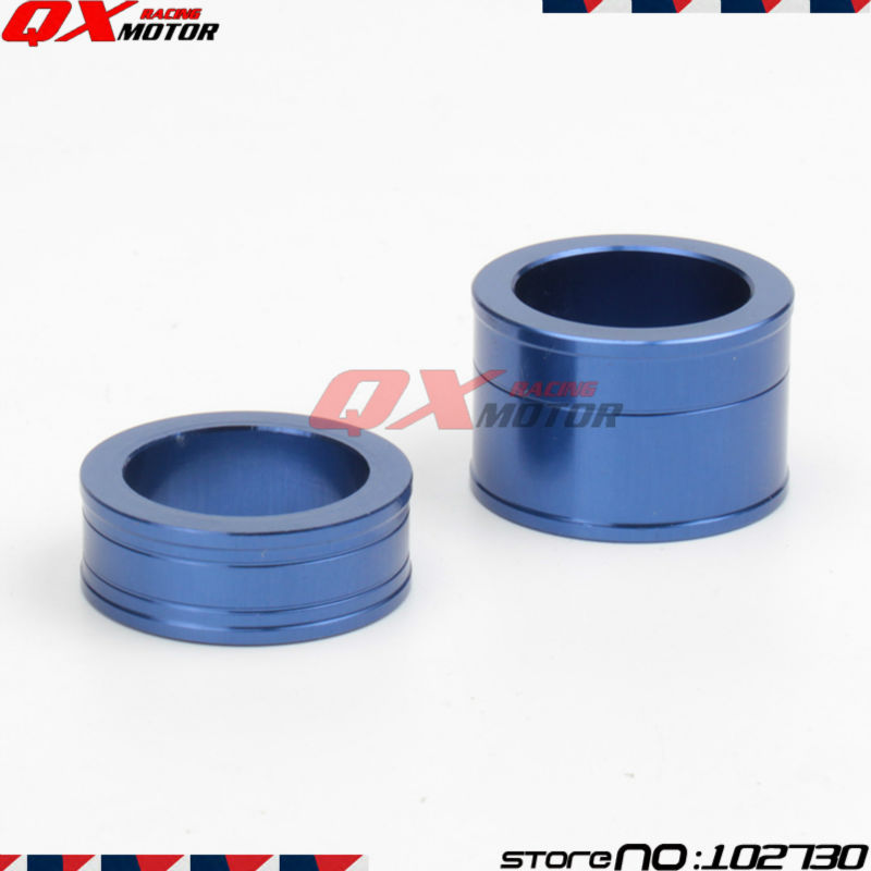 CNC Billet Front Wheel Hub Spacers wheel busher For YZ250F YZ450F Dirt Bike MX Motocross Off Road Motorcycle Free shipping
