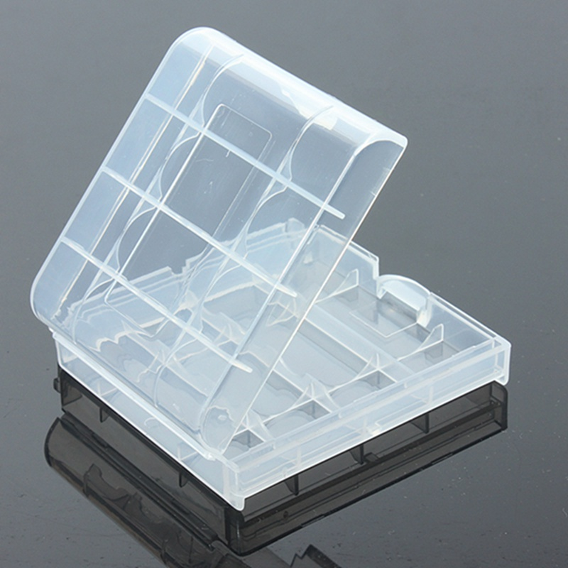 New Clear Hard Plastic Case Cover Holder For AA / AAA Battery Storage