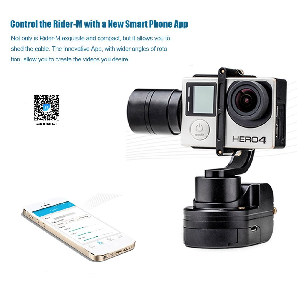 Zhiyun Z1-Rider M WG Wearable 3 Axis Brussless Camera Gimbal Stablizer for Gopro With APP Remote Control Upgraded of Z1-Rider2