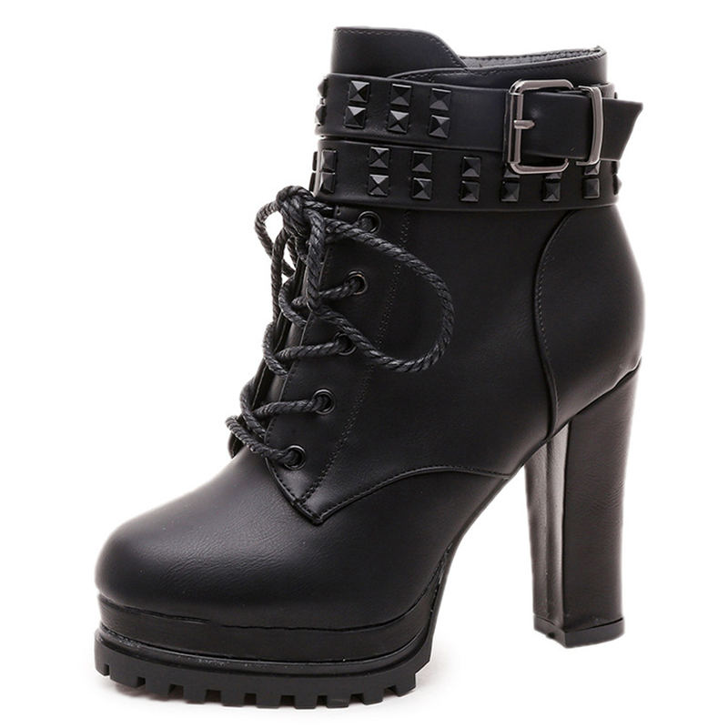 Model Fashion High Quality Women Boots High Heels Motorcycle Boots Women