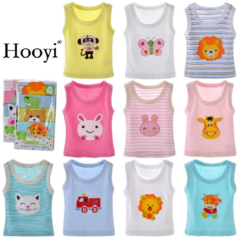 2019 Summer Baby Boy Tops Sleeveless Girls Vest Tanks Camisoles Newborn Undershirts Children T-Shirt Cotton Tee Shirts 0-3Y 1