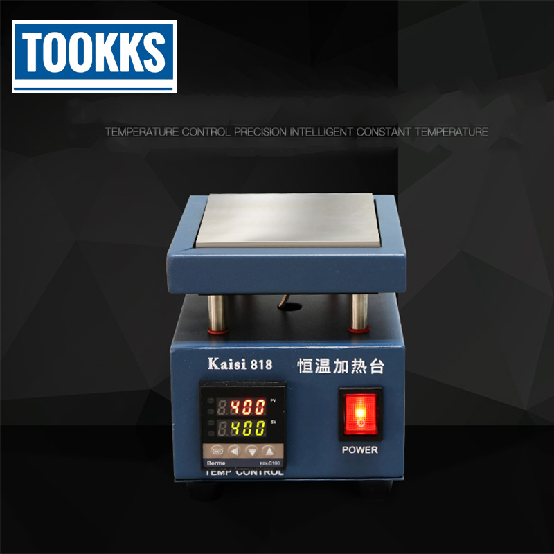 Kaisi 818  Heating Station Constant Temperature Heating Plate For Disassemble LED Lamp Beads /PCB Chips/Mobile Phone Frame
