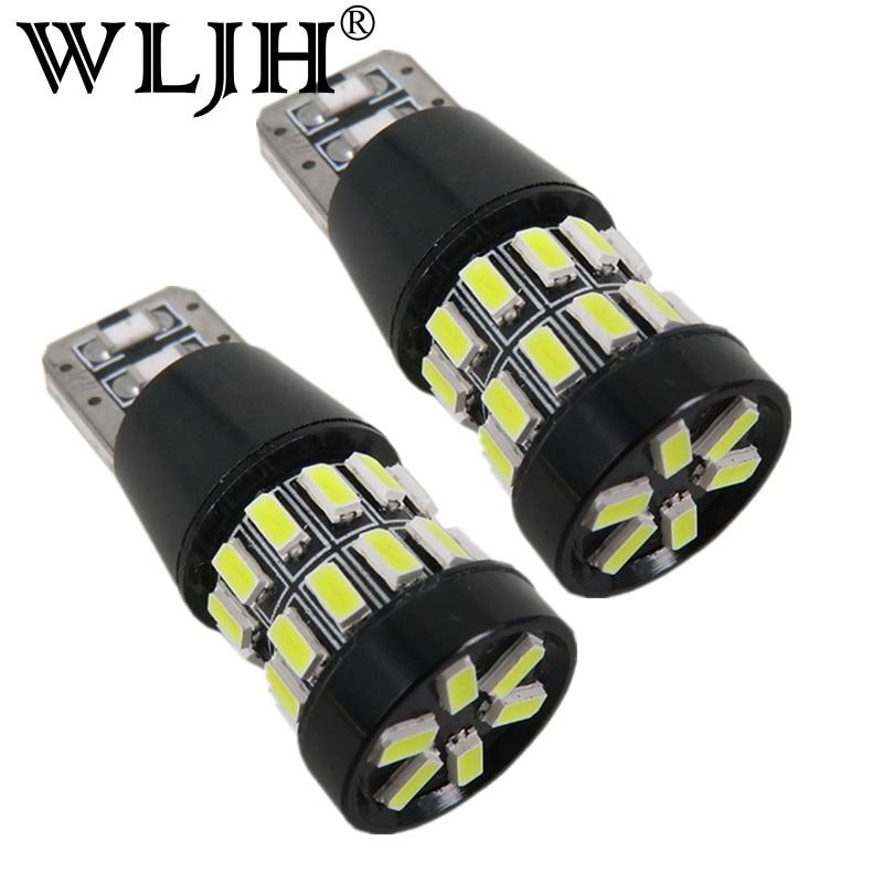 WLJH 2 buc LED T10 W5W 12v Mașină LED Bombillas Lampa Bec Alb Alb - Faruri auto