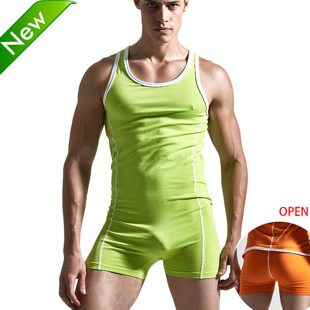 Superbody Sexy Undershirt Men bodysuit body stocking sexy jumpsuit wresting Undershirts shapper gay club jumpsuit