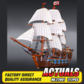NUEVA LEPIN 22001 Barco Pirata Modelo Kits de Construcción de buques de guerra Imperial Briks de Bloques Juguetes de Regalo 1717 unids Compatible