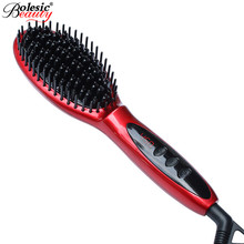 Cheaper Professional Ceramic Hair Straightener Iron adjust temperature wet and dry comb rectifier remington hair straightener