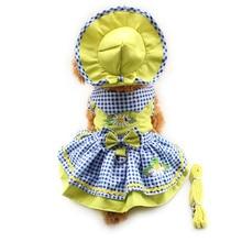 Armi store Flower Pattern Dog Dresses Princess Dress Dogs 6071055 Pet Supplies ( Dress + Hat + Panties + Leash = 1set