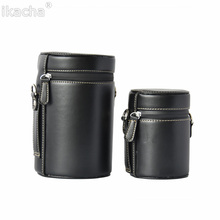 Waterproof Leather Camera Lens Bag Retro Hard PU Lens Case for Canon Nikon Sony Pentax Fujifilm Tamron  Lens Pouch Protector four size soft neoprene camera lens pouch bag case with hanger lens cover protector for canon nikon pentax sony olympus dslr
