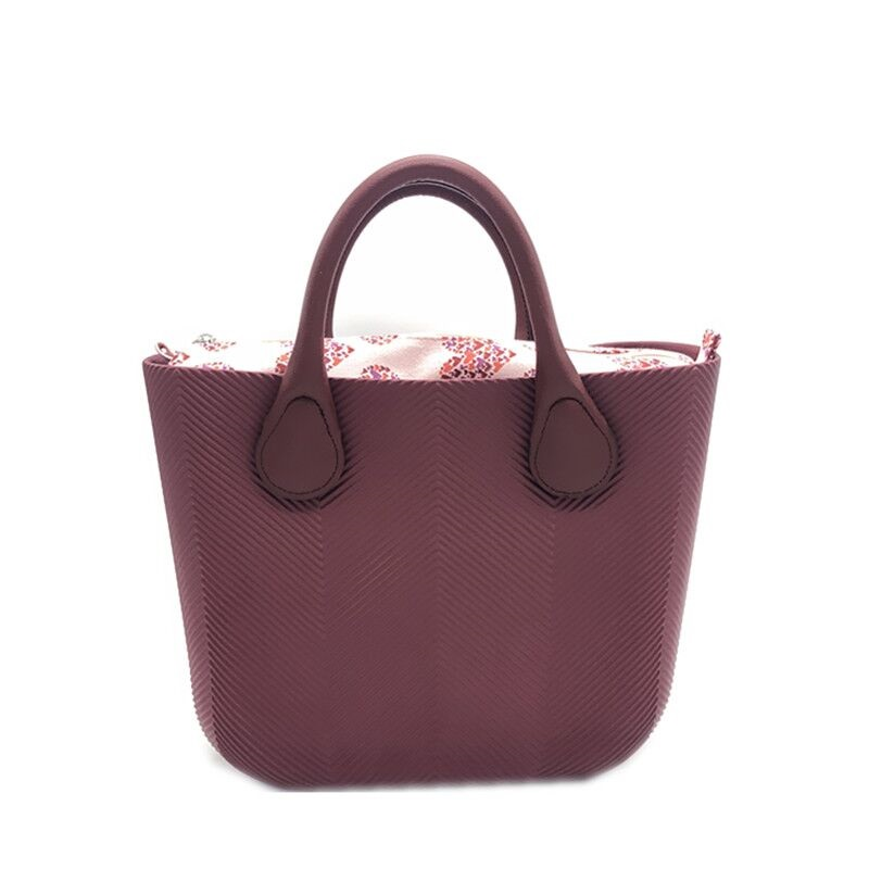 Silica gel obag Handbag Handles Women Beach classic trim EVA mini fashion stripe shoulder shopping top
