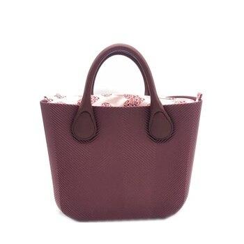 цена на Silica gel obag Handbag Handles Women Beach classic trim EVA mini fashion stripe shoulder shopping top waterproof evening O bag