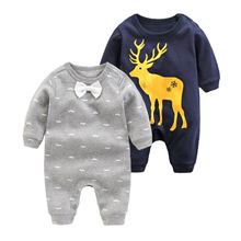 2018 newborn baby boys girls rompers long sleeved fashion jumpsuit spring and autumn boys gentleman clothes cotton pink pajamas