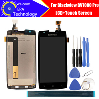 5.0 blackblackblackview bv7000 pro display lcd + tela de toque 100% original testado digitador substituição do painel vidro para bv7000 pro + presentes