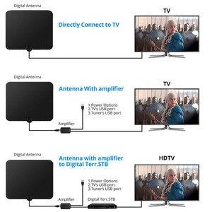 Image 2 - Hdtvアンテナhdデジタル室内テレビアンテナアップグレード2018バージョン50マイル長距離でアンプ信号ブースター