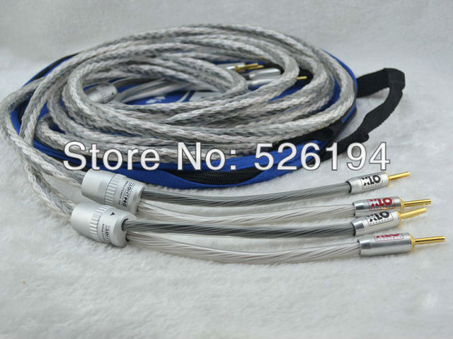 Free shipping 2.5M/pair XLO HTP12 Speaker Cable with banana plug ...