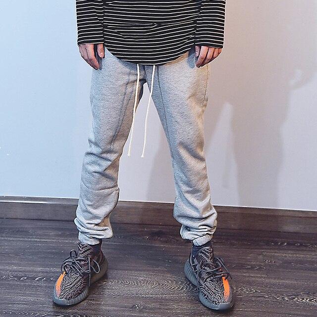 High street long rope metal zipper tide man leisure sweatpant hiphop men fashion casual pants male trousers