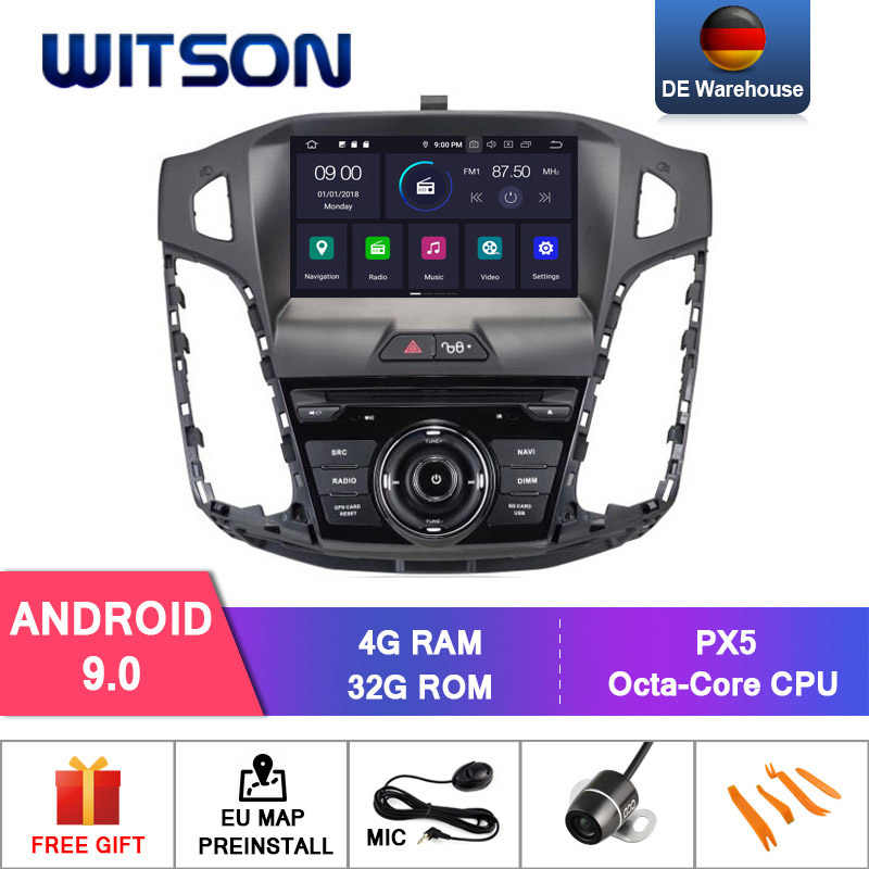 В наличии! WITSON Android 9,0 автомобильный dvd-плеер для Ford focus 2012 gps стерео 4 Гб ram + 32 Гб FLASH 8 Octa Core + DVR + DSP + DAB + OBD