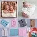 Nueva Llegada de Lana de bebé accesorios de fotografía Fotografía Recién Nacido Envuelve Hecho A Mano Flor de La Venda Del Bebé apoyos de la Foto Accesorios