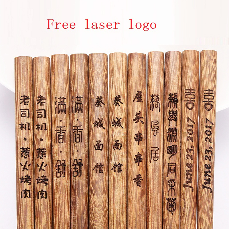 200pair lot Creative Personalized Text Wedding favors and gifts Customized Engraving Wenge wood Chopsticks Free custom