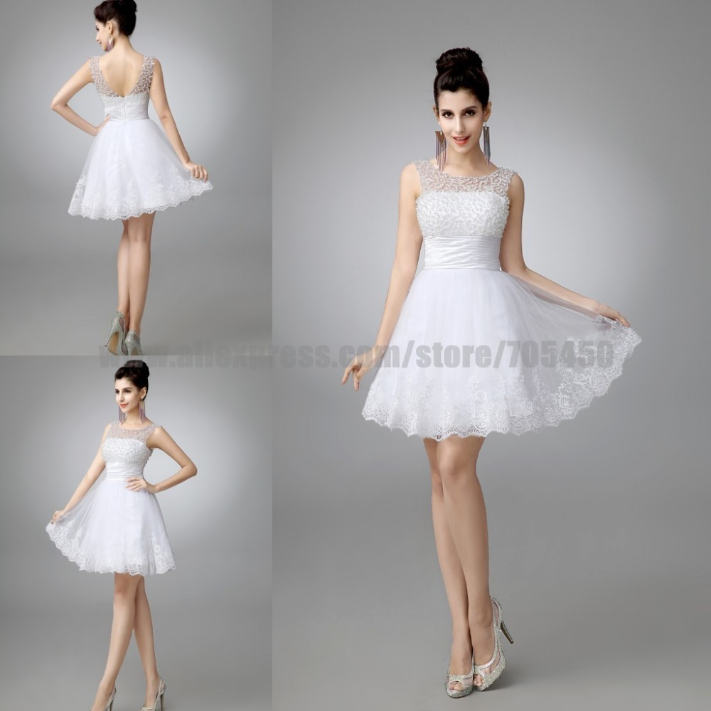 100 real new 2015 white short wedding dresses the bride for Wedding dress for a short bride