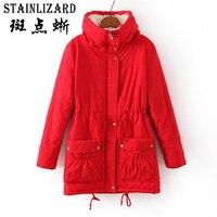 STAINLIZARD 10 Colors Thick Women Jacket Casual Women Winter Coat Cotton Long 2017 Warm Women Ladies