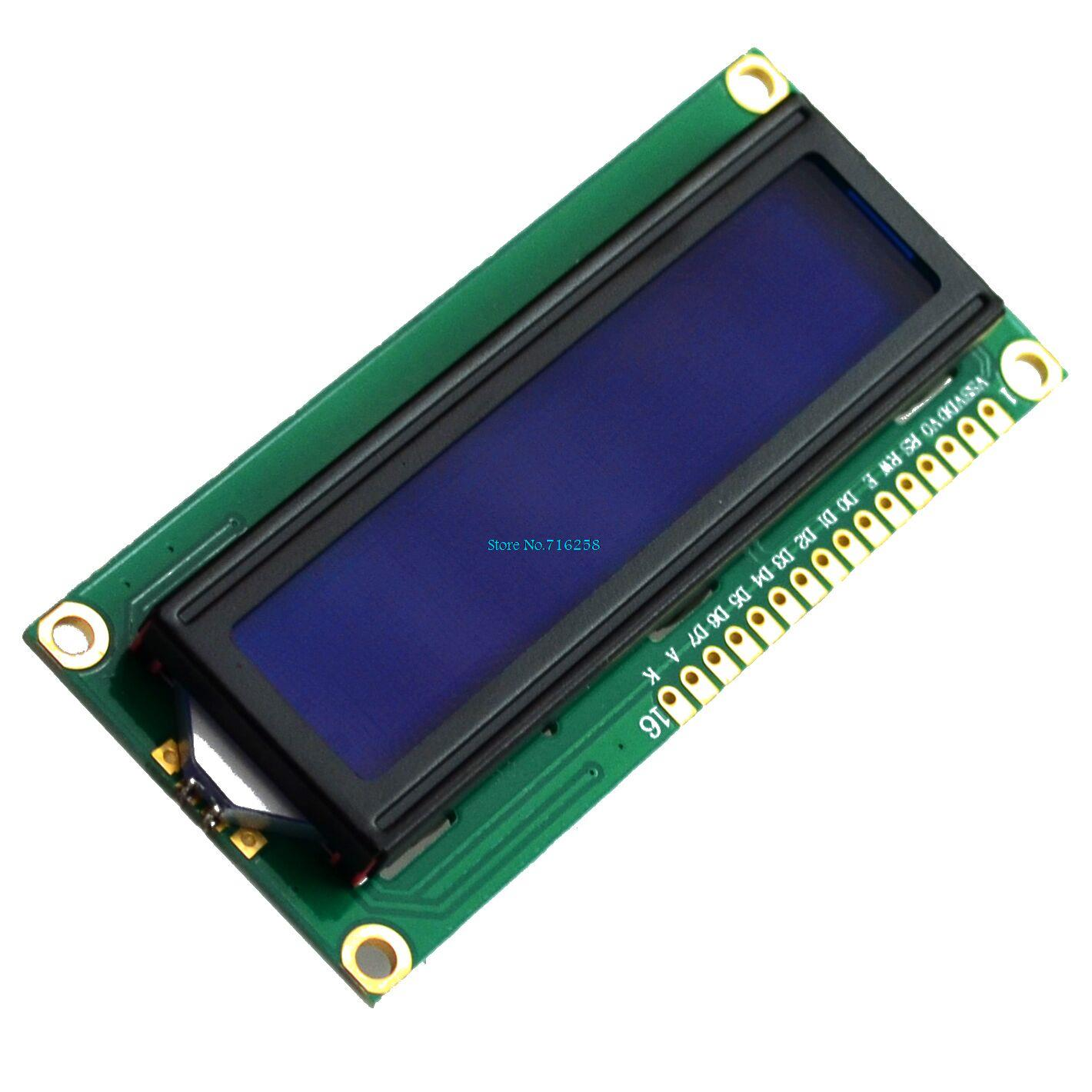 1602 16x2 Character LCD 16x2, LCM Display Module blue or green blacklight white character