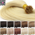 Keratin Stick Tip Remy Fusion Hair Extension Pre Bonded Double Drawn I Tip Human Hair Extensions 1g strand Straight Virgin Hair