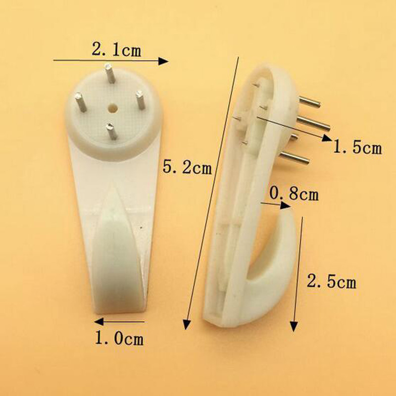 D 100pcs Free Shipping Photo Frame Photo Wall Hangs A Picture Clasps Solid Wall Nail Contact Non-trace Nail Hooks