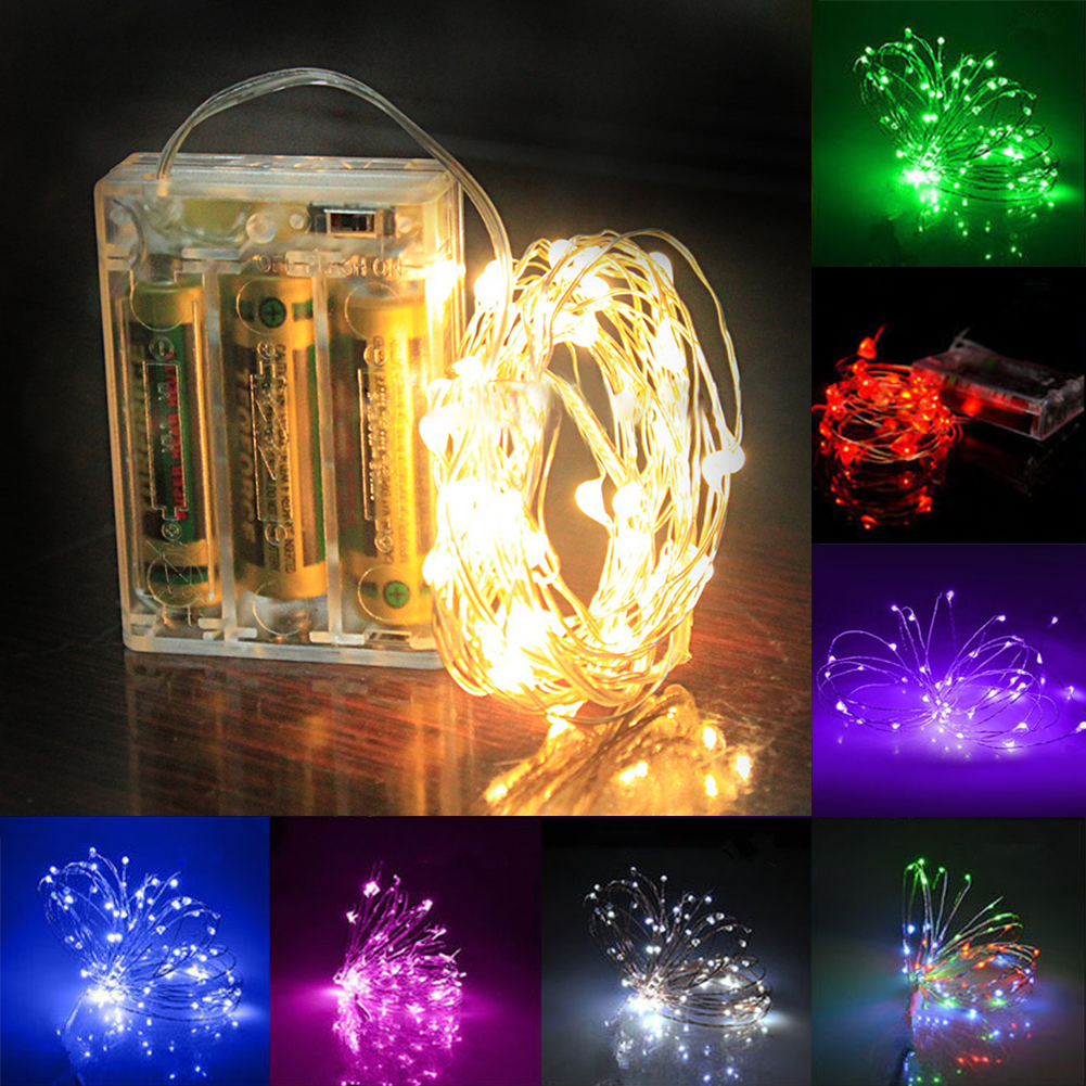 Led String Lights Long : Long 500cm 300cm RGB Colorful LED String Light Silver Wire Fairy Lights with 4.5V Christmas New ...