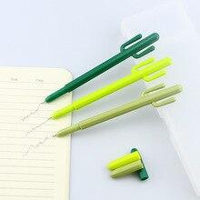 60 pcs/Lot Green cactus roller ball pen 0.5mm ballpoint black color Stationery Office school supplies Canetas escolar CB296
