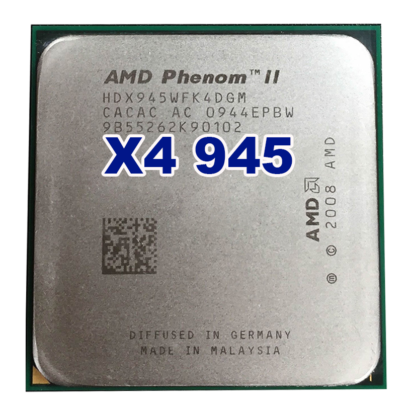 Processeur d'unité centrale d'origine AMD Phenom II X4 945 3.0 GHz Socket AM2 +/AM3 938pin L3/6 M Quad-CORE 95 W