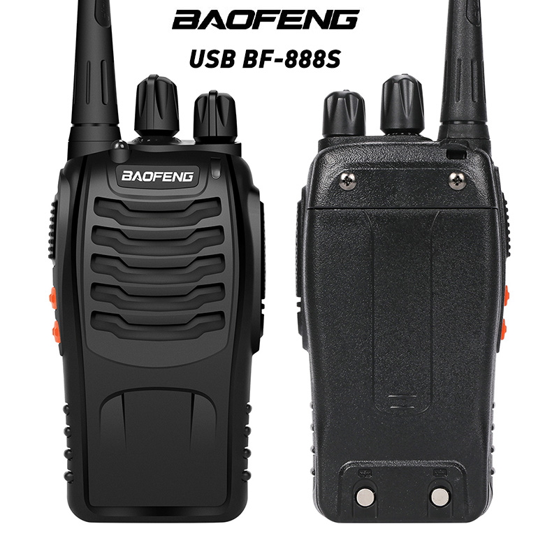 BaoFeng BF-888S Walkie Talkie USB Charge Adapter UHF 400-470MHZ 2-Way Radio 16CH Long Range With Earphone 3.7V 1500mah Battery
