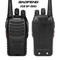 BaoFeng BF-888S Walkie Talkie USB lade adapter UHF 400-470MHZ 2-Way Radio 16CH Lange Palette mit kopfhörer 3,7 V 1500mah Batterie
