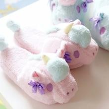 Персонажи Little Twin Stars Мультяшные тапочки; зимние теплые тапочки; домашние тапочки в виде единорога туфли из хлопка мягкие плюшевые игрушки милые домашние тапочки; подарки для любого пола
