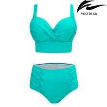 new high waist plus size bikini large size swimwear Russian swimsuit beachwear swimming suit bathing wear