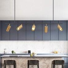 الذهب عاكس الضوء قلادة أضواء LED معلقة الأضواء قلادة مصباح الشمال تصميم غرفة الطعام قلادة حديدية الإنارة الإضاءة