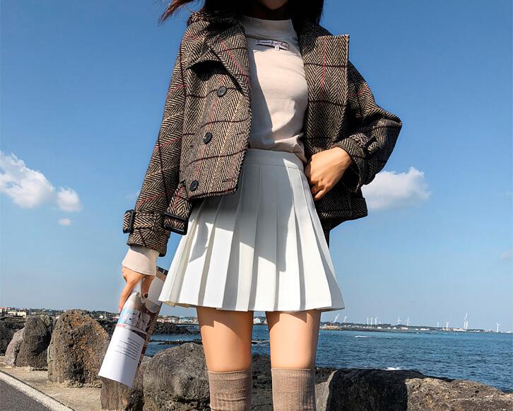 Kawaii Pleated High Waist Skirt  2